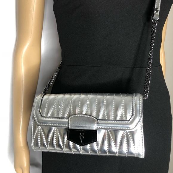 Victoria's Secret Handbags - Victoria's Secret Silver Wallet Crossbody Bag
